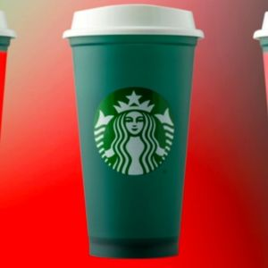 New! STARBUCKS color change reusable collector cup